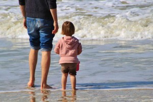 privacidad de los niños en la playa