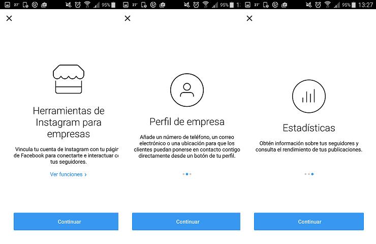 Instagram: cómo cambiar al perfil profesional