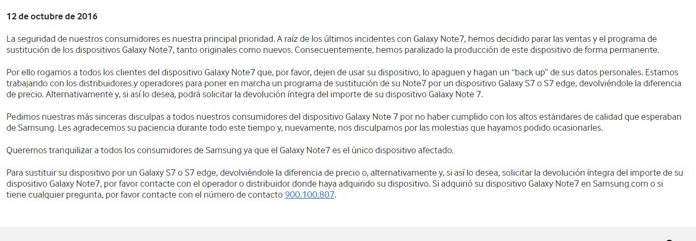 ¿Qué esta ocurriendo con el Samsung Galaxy Note 7?