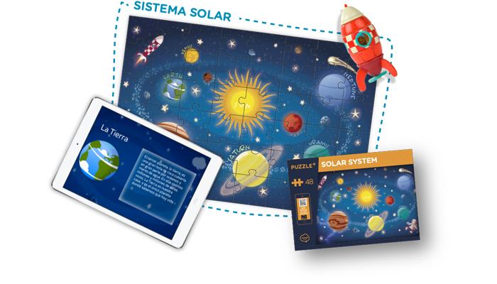 puzzle realidad aumentada sistema solar